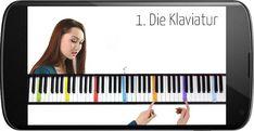 1. Die Klaviatur | Kostenlos Musiktheorie lernen mit PianoTube Playing Piano, Piano Sheet Music, Violin, Bucket Lists, Gabriel, Keyboard, Diy, La La Land, Musica