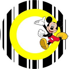 Inspired in Mickey Mouse: Free Party Printables in Red and Black. Right click and save as