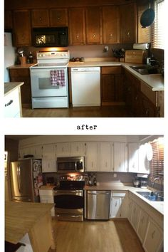 Our kitchen....before and after