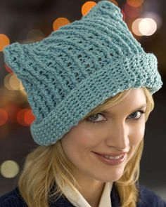 Best Free Crochet » Free Floppy Crochet Hat Pattern from RedHeart.com