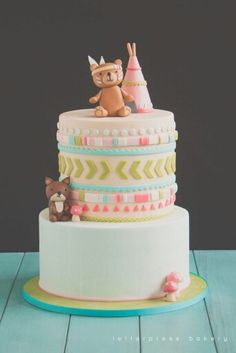 Bohemian woodland cake Baby shower pleases!!!!