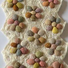 "Merino wool hand-crocheted scarf Sophie Digard - ""Texture"" agrum"