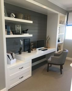 Tiny Home Office Design Ideas. Therefore, the demand for home offices.Whether you are planning on adding a home office or restoring an old area into one, here are some brilliant home office design ideas to aid you get going. Contemporary Home Office, Office Inspiration, Home Office Space, House Interior, House, Interior, Contemporary House, Home Decor, Office Design