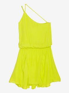 Neon chiffon party dress <3