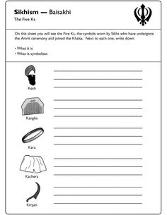World Religions - World History worksheets for 5th Grade ...