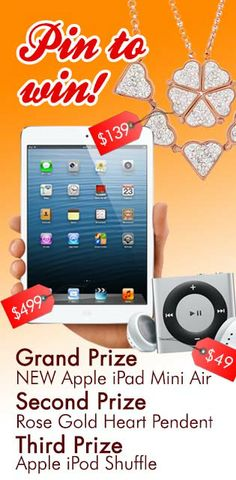 This is an AMAZING giveaway!!!! I having been dying for an Ipad Air!!! Pin & Click to go to the enter page!