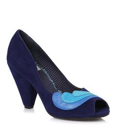 Another great find on #zulily! Blue Beatrice Peep-Toe Pump by Bettie Page #zulilyfinds