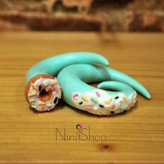 Cute plugs Fimo Clay, Ear Plugs, Body Mods, Handmade Accessories, Mint Green, Sweet, Cute, Candy, Body Modifications