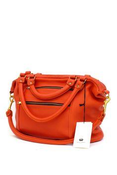 Fill N Zip Bag -- Lava.love the color New Handbags, Leather Handbags, Fashion Bazaar, Expensive Handbags, Cheetah Print, Leather Working, Playing Dress Up, Bucket Bag, Fashion Brands