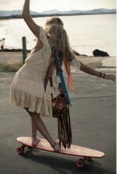 the longboard babe skater girl style