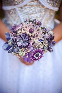 Brooch Bouquet Deposit  Handcrafted Designer High by TheRitzyRose, $100.00
