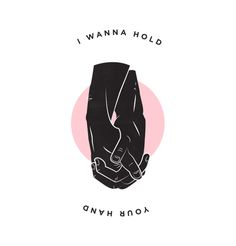 Boys holding hands, and a small sentiment // gay boys, hands and logo design. Original illustration by Sam Wilson