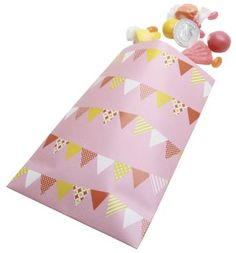 Amazon.com: Party Partners Design Retro Sweet Soiree Themed Favor Bags, Pink/Orange, 12 Count: Toys & Games