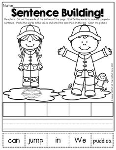 I enjoyed making our new Spring Math and Literacy Packet for Kindergarten! This packet is filled with FUN, Kindergarten Language Arts, Kindergarten Literacy, Early Literacy, Preschool, Reading Activities, 1st Grade Writing, Teaching Writing, Teaching English, Speech Therapy