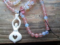Goddess of Love, love prayer beads, love mala, love rosary, goddess prayer beads, goddess mala, goddess rosary, pagan mala, pagan prayers by MagickAlive on Etsy