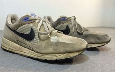 Vintage NIKE Air Shoes 1990 SKYLON Suede Synthetic Running Men's Size 11 #Nike #AthleticSneakers