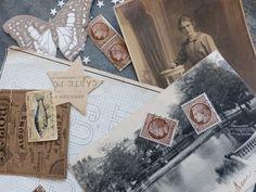 Image of Les beaux papiers. Ephemera Bistre et beige