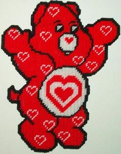 Plastic Canvas For Sale | All My Heart Care Bear Wall Hanging - Crafts for Sale