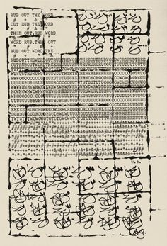 William S. Burroughs and Brion Gysin, The Third Mind, ink and typescript on paper, 1965.
