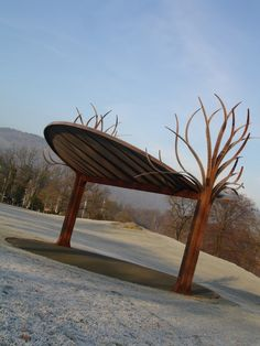 The Bandstand on The Glebe in Bowness. Made from Corten.