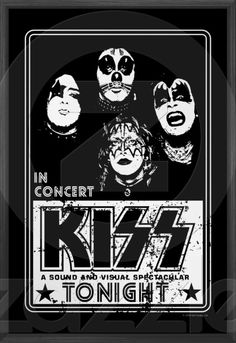 Black & white Kiss poster
