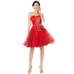 Červené spoločenské šaty CL007541