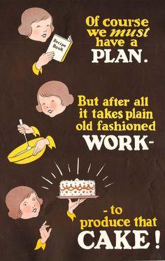 Cute vintage baking illustration