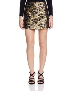 cf90a1349bb92 AQUA Gold Brocade Aline Mini Skirt - 100% Bloomingdale's Exclusive |  Bloomingdale's Fashion 2015,