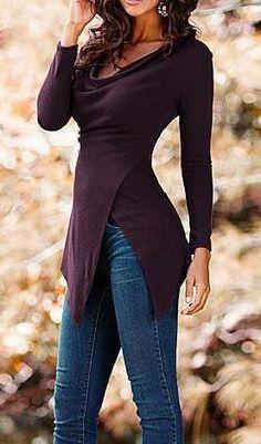 Long Sleeve Irregular Top