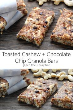 Chocolate Chip Granola Bars. These simple no bake chewy granola bars ...