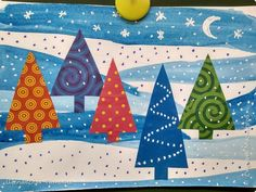 Christmas Crafts For Toddlers, Winter Crafts For Kids, Art For Kids, Homemade Christmas Cards, Christmas Art, Craft Activities For Kids, Preschool Crafts, Hippie Art, Winter Art