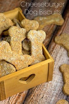 Cheeseburger Dog Biscuits | bakeatmidnite.com | #dogs #dogbiscuits #pettreats