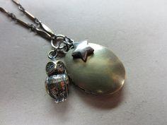 Owl and Star Charm Locket. $58.00, via Etsy.