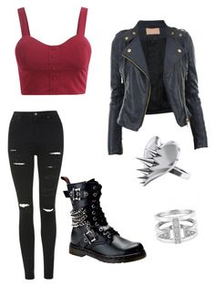"""""""Baby now we got bad blood"""" by daughterofspace ❤ liked on Polyvore featuring Topshop, CO, Demonia, LUSASUL and CC SKYE"""
