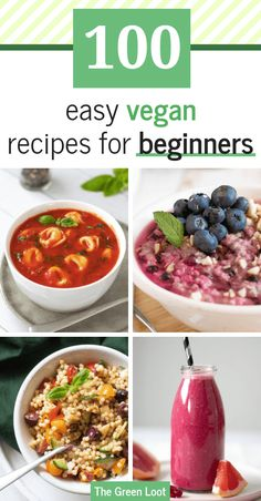 Going Vegan in 2020 - The Ultimate Guide for Beginners These 100 Easy Vegan Recipes for Beginners will help you make simple, but tasty meat-, dairy-, and egg-free meals even if you have no experience. Beginner Vegetarian, Vegan Recipes Beginner, Vegetarian Recipes, Vegan Meal Plans, Vegan Meal Prep, Vegan Foods, Vegan Meals, Healthy Eating Tips, Going Vegan