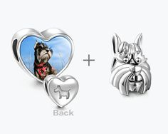 Schnauzer Pet Personalized Photo Set - I Love Pets - Charms
