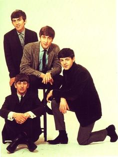 George Harrison, John Lennon, Richard Starkey, and Paul McCartney