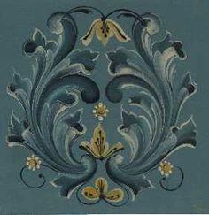 Gudbrandsdal style of rosemaling.
