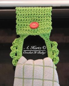 crochet towel holder free patterns | Crochet Towel ... by CrochetItBaby | Crocheting Pattern