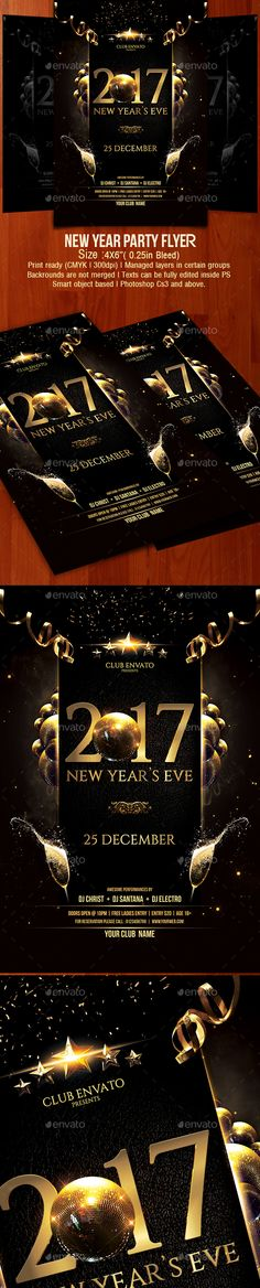 30+ Stunning Photo Realistic New Year Flyer Template Designs (2018 - event flyer examples