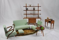 Furniture for doll 1/6  living room vintage by 21catiacreations