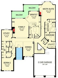 Plan 36459TX: Stucco And Stone Sloping Lot Ranch House Plan