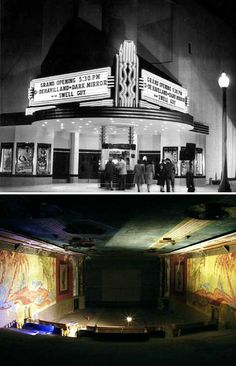 Lorenzo Theater [San Lorenzo, California]. There are very few movie palaces left in the United States. If you ever get an opportunity to see a movie at one, do it! It's a breathtaking experience.