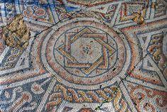 Shavey Zion Byzantine mosaics - west floor