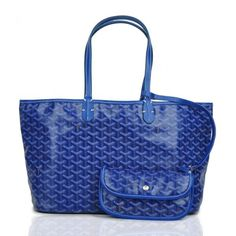 Goyard Saint Louis Tote Bag MM Dark Blue [Goyard-0550] - $149.00 if you like please follow my pin i will refollow you