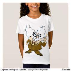 Captain Underpants | Professor Poopypants. Producto disponible en tienda Zazzle. Vestuario, moda. Product available in Zazzle store. Fashion wardrobe. Regalos, Gifts. Trendy tshirt. #camiseta #tshirt