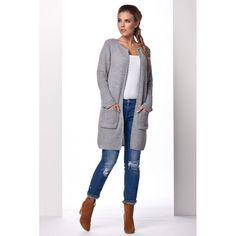 Cardigan dama cu lungime medie si maneci lungi gri #cardiganpesterochie Cardigan, Sport, Sweaters, Style, Fashion, Clothing, Tricot, Swag, Moda
