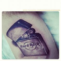 #HardRockCafe Lighter Tattoo