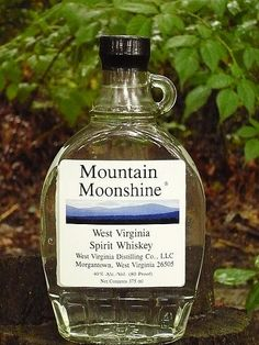 Real West Virginia moonshine.... of the  legal kind.  I guess... I put this here because of how its changed LOL
