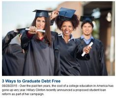 The average student loan has doubled in the past 20 years   There are ways to graduate debt free.